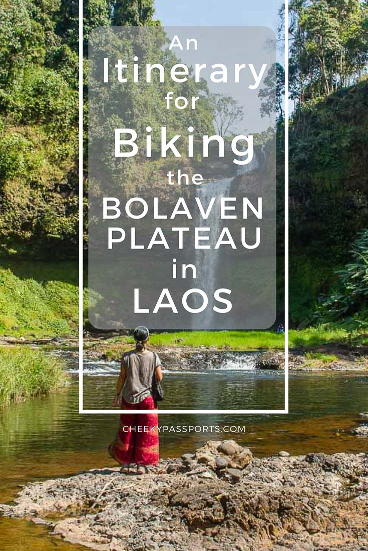 Itinerary for Biking the Bolaven Plateau Loop - One of the best experiences we had in #Laos was biking the #Bolaven Plateau Loop in the southern part of the country, where quiet roads lead to #charming #traditional villages scattered alongside a multitude of spectacular #waterfalls in rural countryside. Check our tips and #itinerary! #travellaos #chasingwaterfalls #traveldudes #motorbikeloop #biking #passionpassport #aroundtheworld #traveldeeper #travelawesome #traveltips #travel