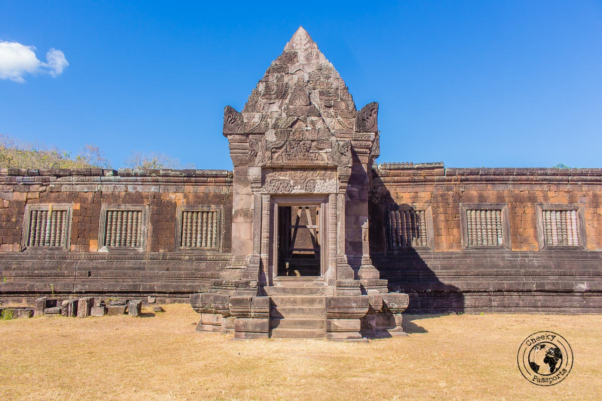 One of the better preserved structures at the Vat Phou complex in Pakse - Itinerary for Biking the Bolaven Loop