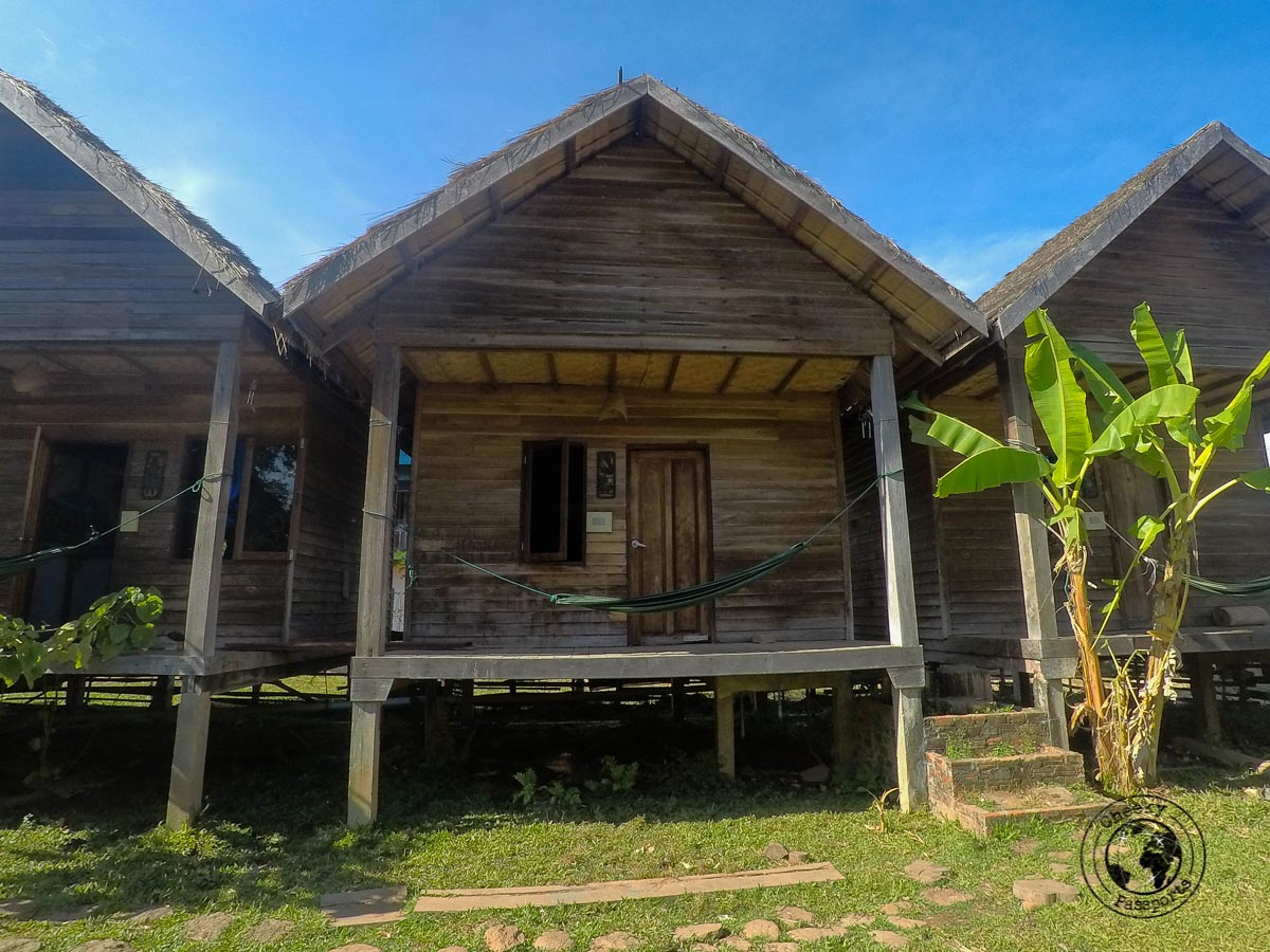 Our acomdoation at the Fandee Guesthouse - Itinerary for Biking the Bolaven Loop