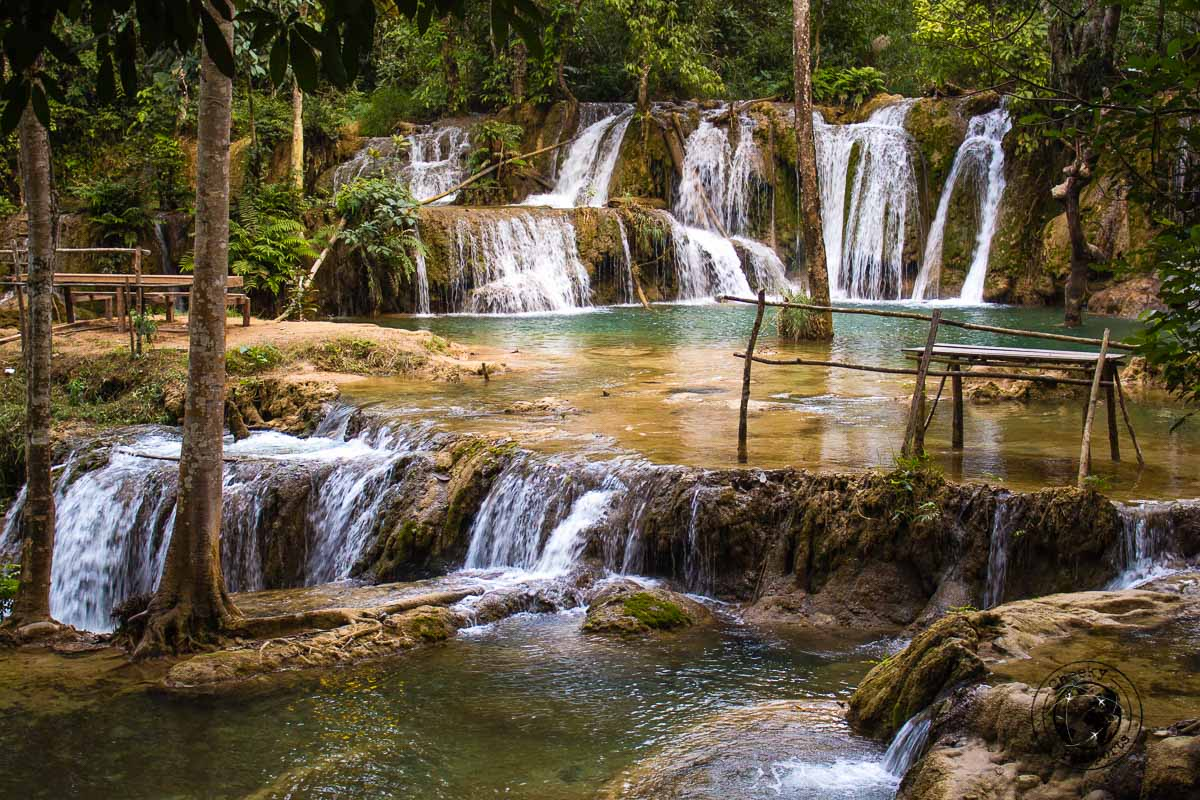 Tad Sae Falls near Luang Prabang - - Things to do while backpacking in Laos