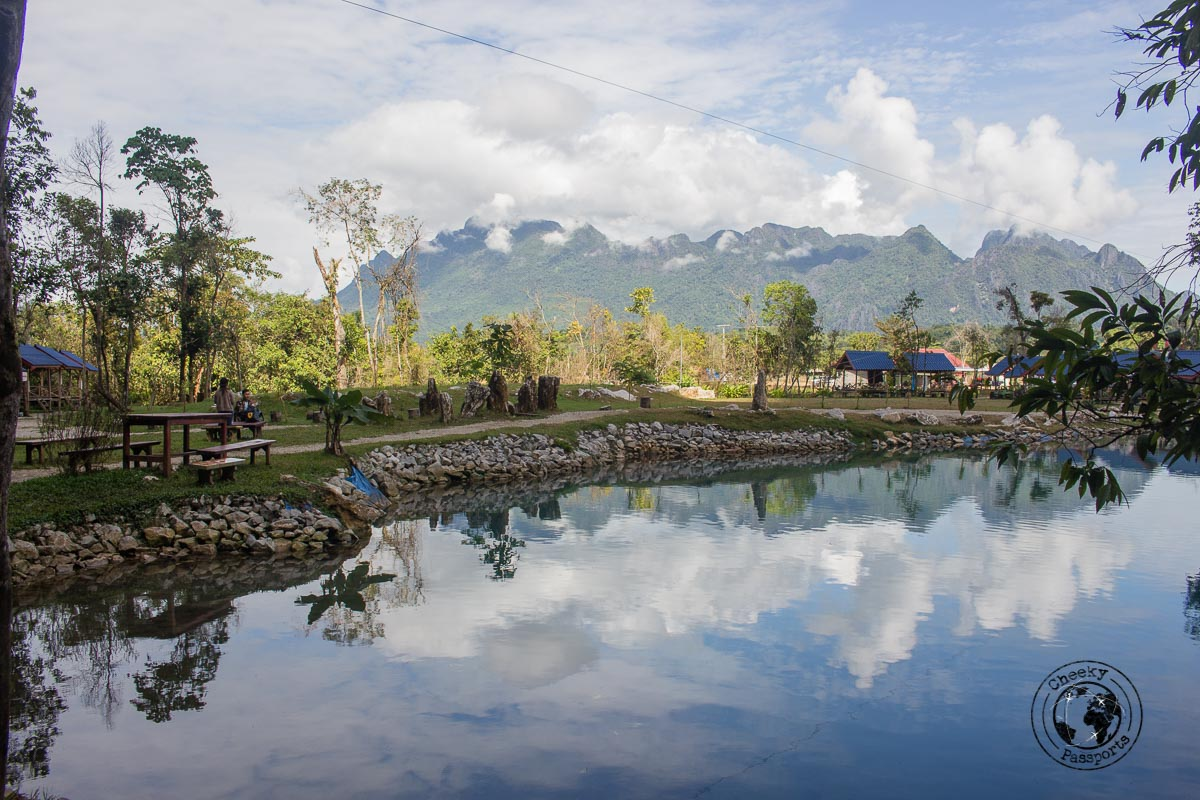 The blue lagoon in Vang Vieng - Things to do while backpacking in Laos