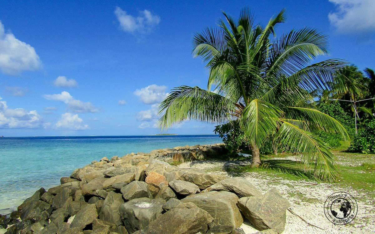 Amazing landscape in the Maldives local islands