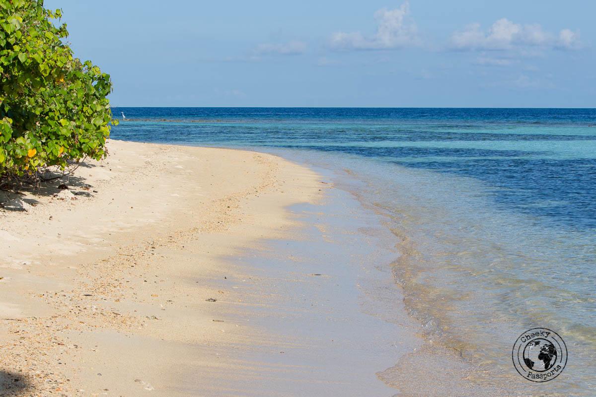 Bikini Beach at Rasdhoo - backpacking maldives