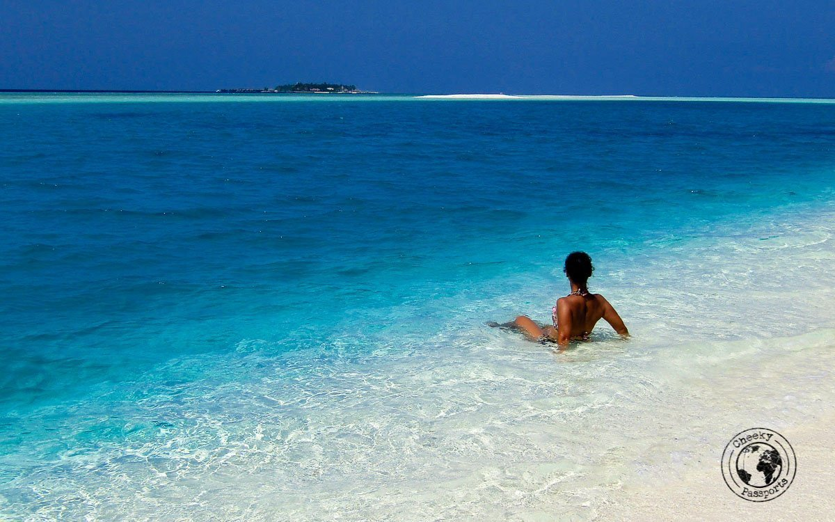 Enjoying the scenery - maldives local islands