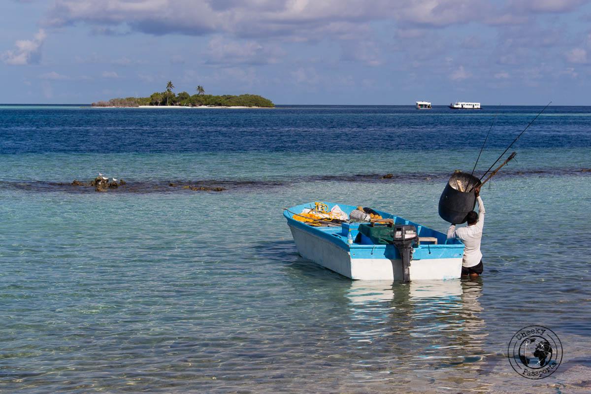 Fisherman in the Maldives