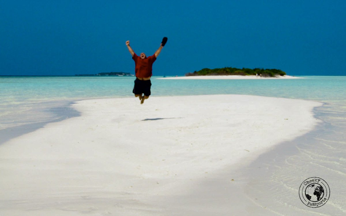 Fooling around on the sandbars - Maldives local islands
