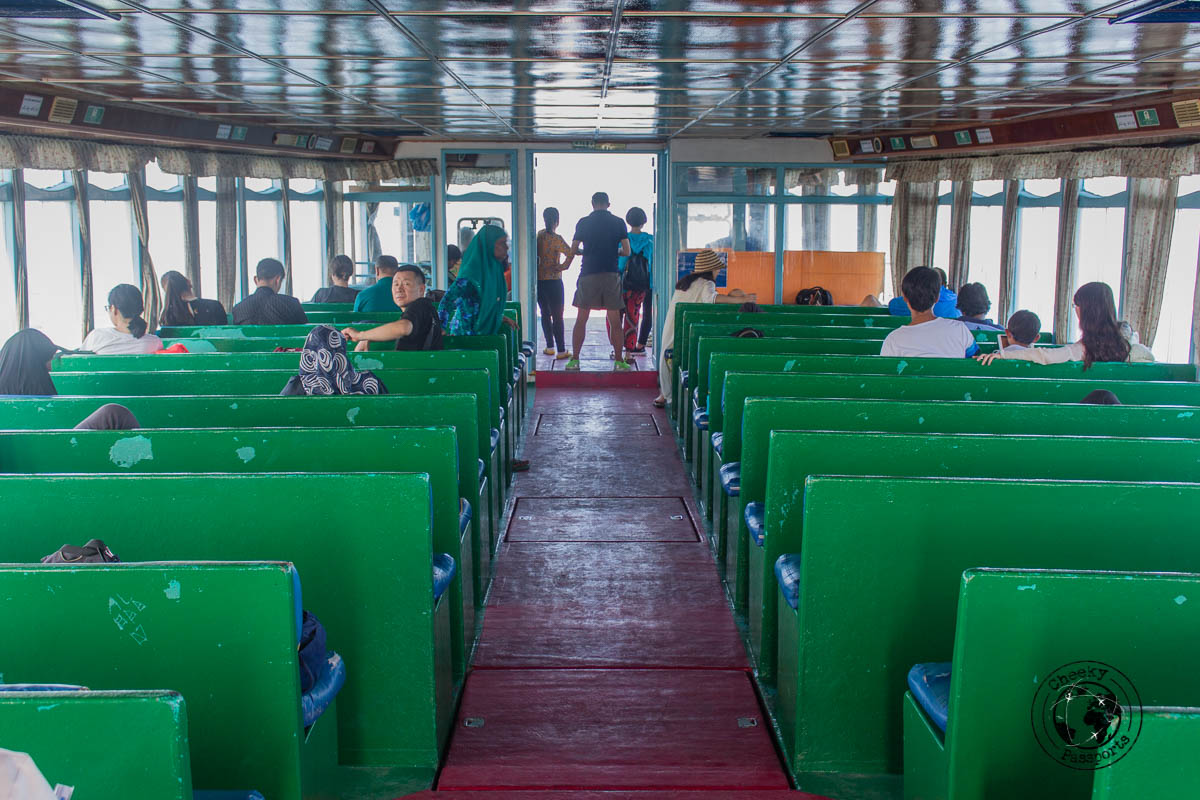 The local Maldives ferry - backpacking maldives