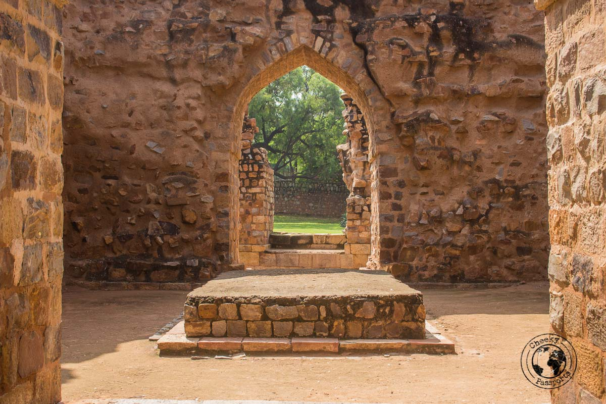 A Chamber at the Qutub Minar Complex - Backpacking in Delhi - Delhi Sightseeing by metro