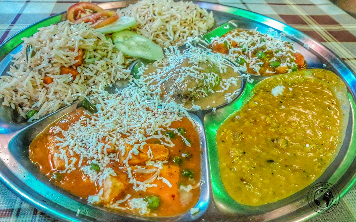 Food at Good Vibes - Your Guide to Seeing Sunrise at Taj Mahal