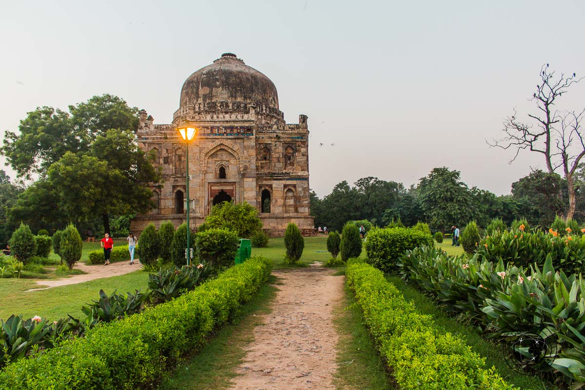 Lodhi Gardens - Backpacking in Delhi - Delhi Sightseeing by metro