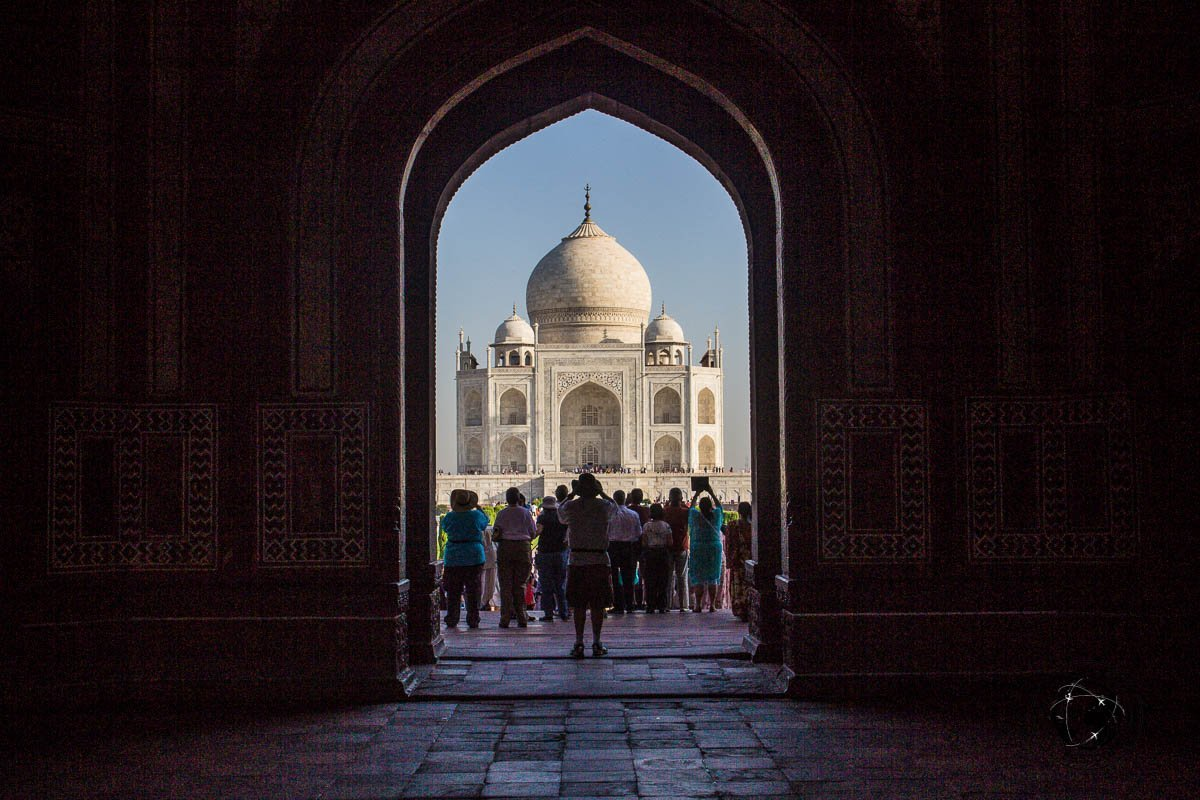 The Taj Mahal form the main entrance - Your Guide to Seeing Sunrise at Taj Mahal
