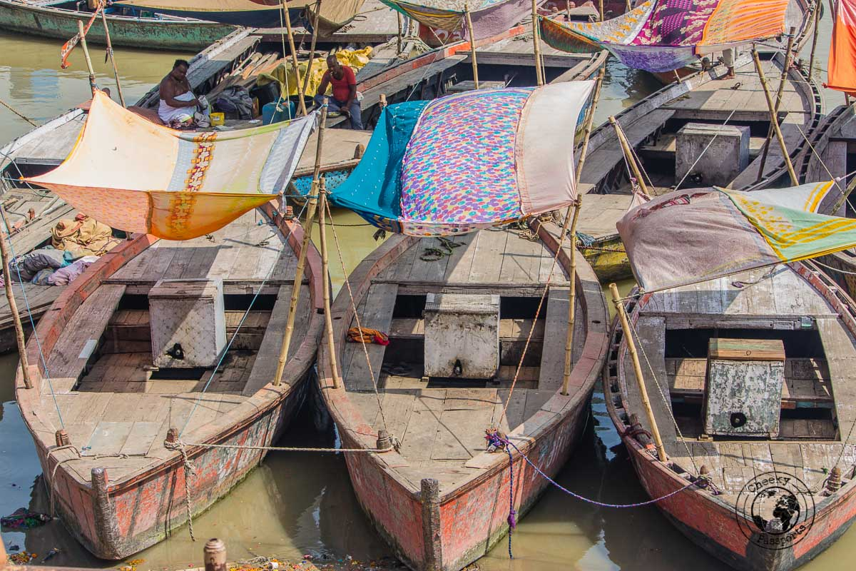 Boats moored near the river in Varanasi - The Best Places to Visit in Varanasi and Other Things to Do in the Holy City