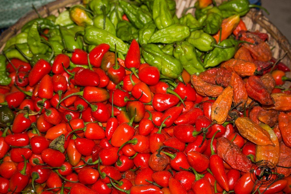 Chili selection at the Bomdila Market - Explore Dirang and Bomdila in Arunachal Pradesh - Northeast India Travel