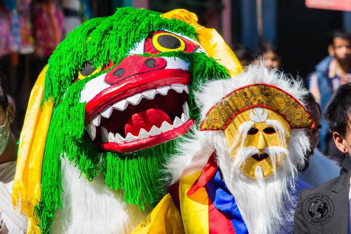 Coloureful dragon costume at the tawang parade - Guide to Sela Pass, Tawang Monastery and other Places to Visit in Tawang