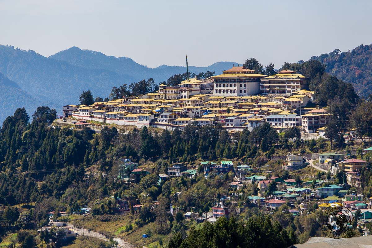 Distant view of the Tawang Monastery
