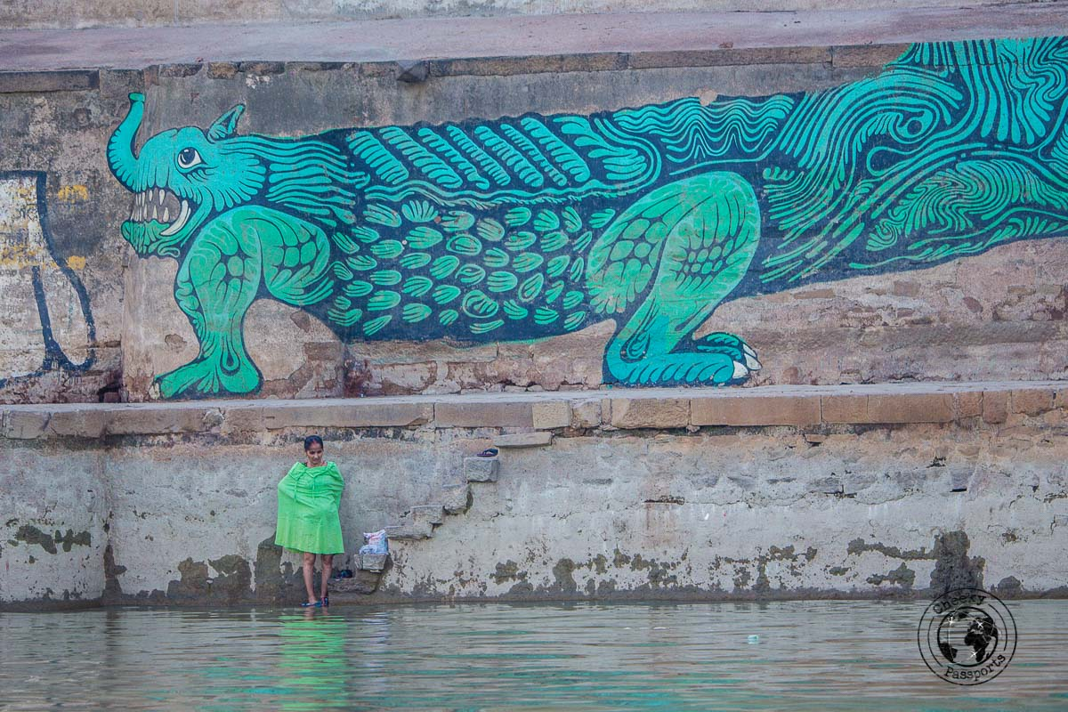 Ghat art in Varanasi - The Best Places to Visit in Varanasi and Other Things to Do in the Holy City