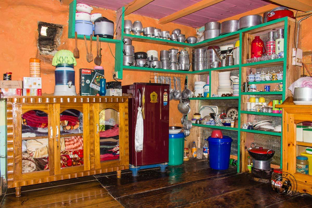 Inside the private kitchen of a Dirang house - Explore Dirang and Bomdila in Arunachal Pradesh - Northeast India Travel