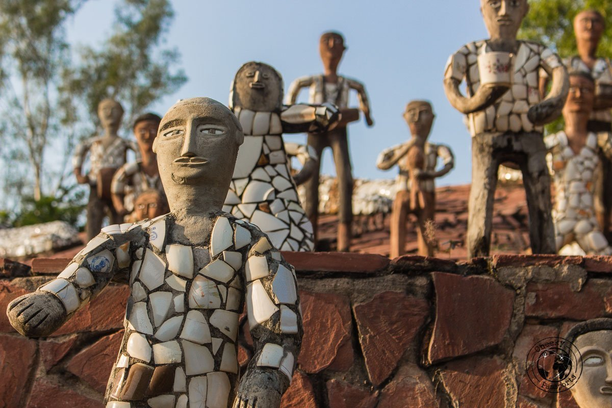Interesting sculptures at the rock garden in Chandigarh - Top Places to Visit in Amritsar