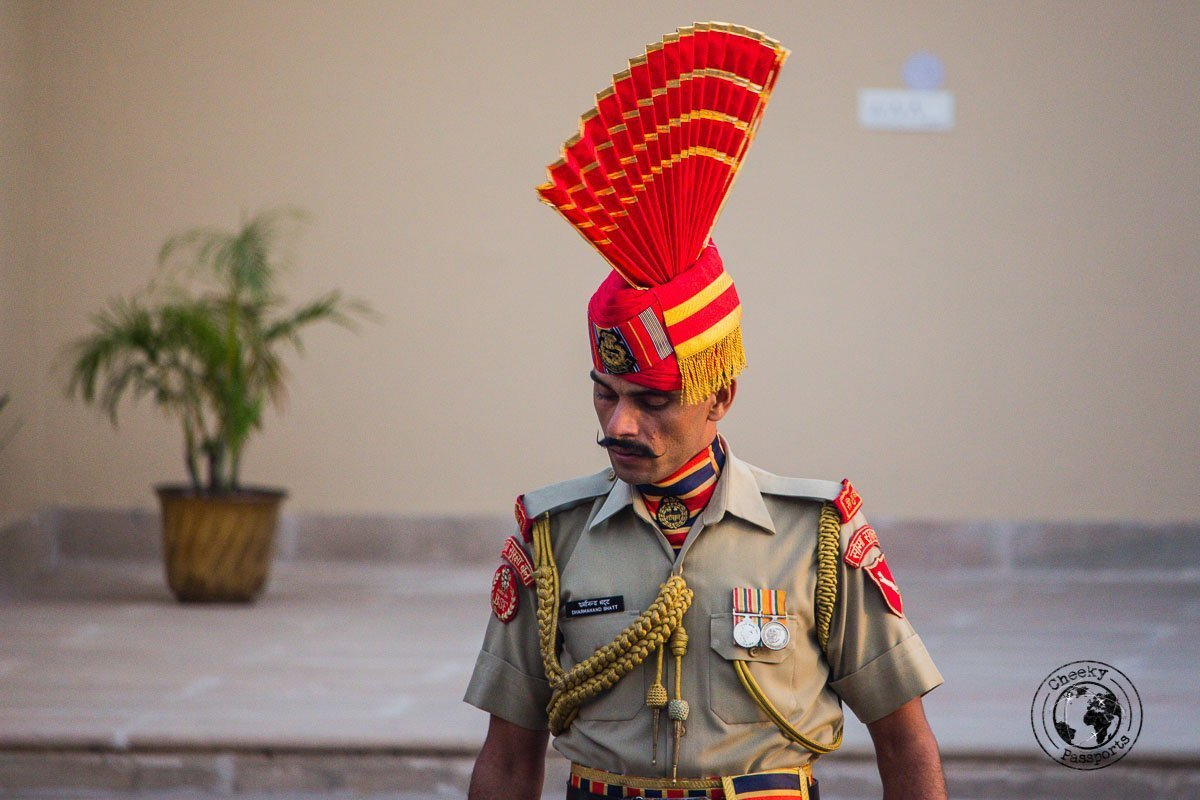 Interesting uniform at the Wagah border ceremony - Top Places to Visit in Amritsar