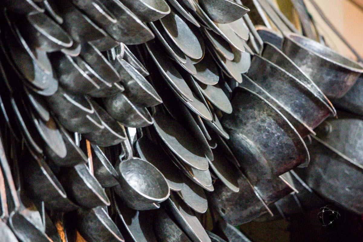 Many pans at the Bomdila Market - Explore Dirang and Bomdila in Arunachal Pradesh - Northeast India Travel