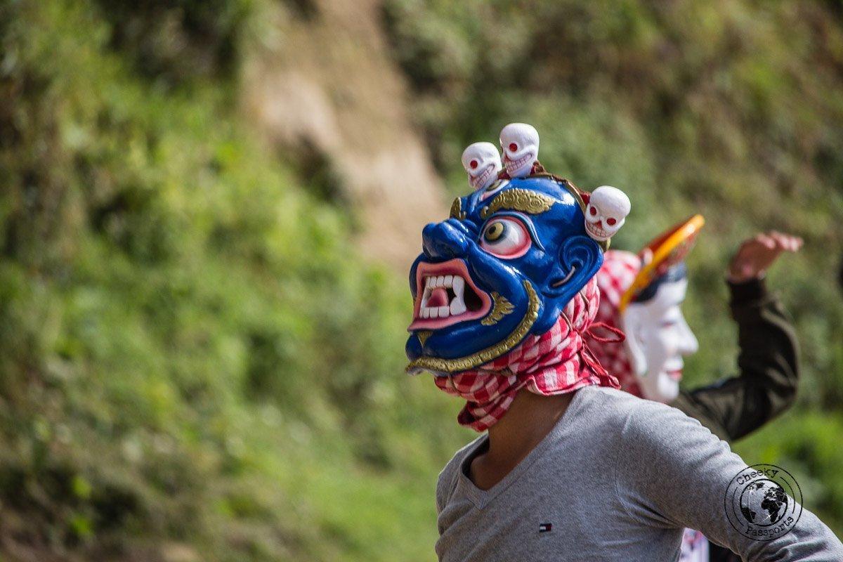 Mask practice at the Bomdila monastery - Explore Dirang and Bomdila in Arunachal Pradesh - Northeast India Travel