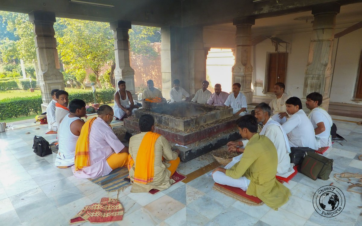 Men assembled at the Golden Temple - The Best Places to Visit in Varanasi and Other Things to Do in the Holy City