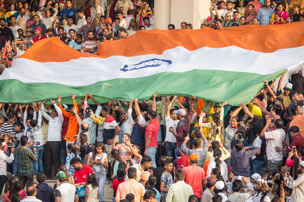 Patriotism runs high at the Wagah Border Ceremony - Top Places to Visit in Amritsar