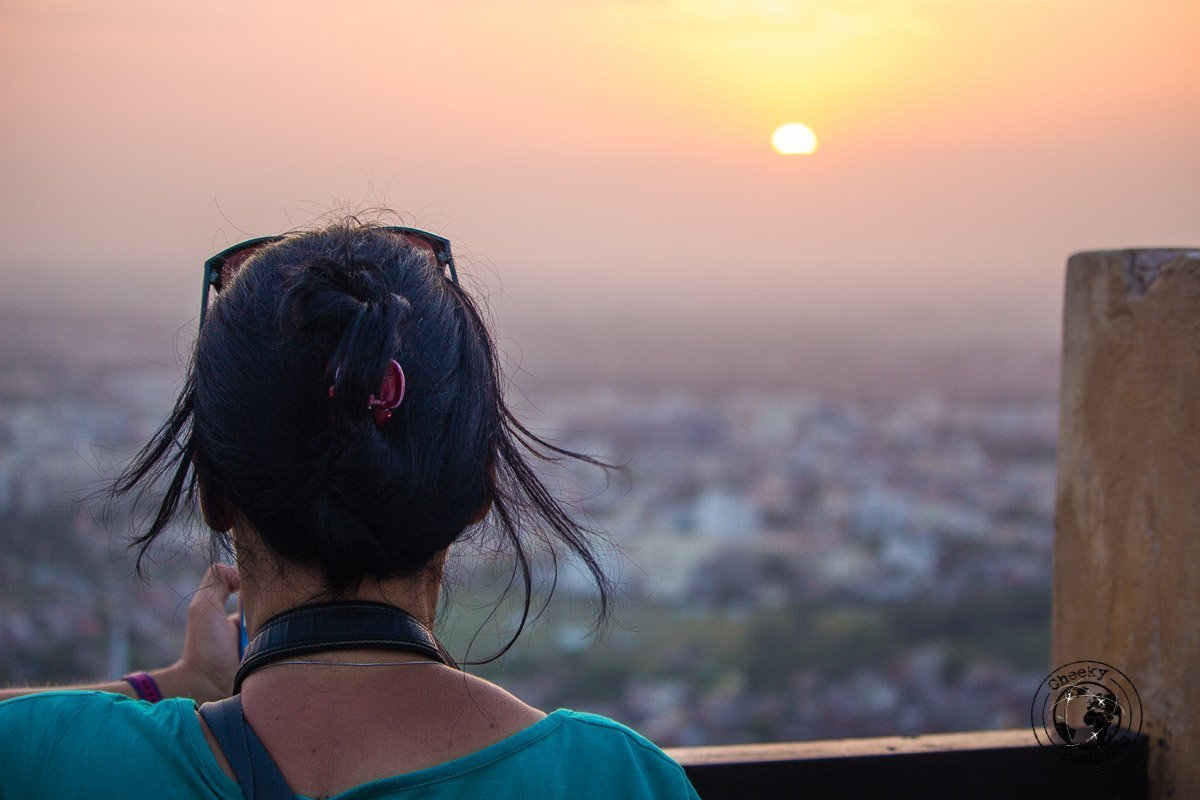 Sunset at the viewpoint at the Nahargarh Fort - The Best Tourist Places in Jaipur