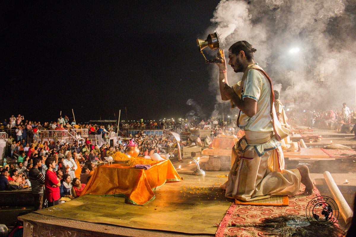 The Aarti ceremony in Varanasi - The Best Places to Visit in Varanasi and Other Things to Do in the Holy City