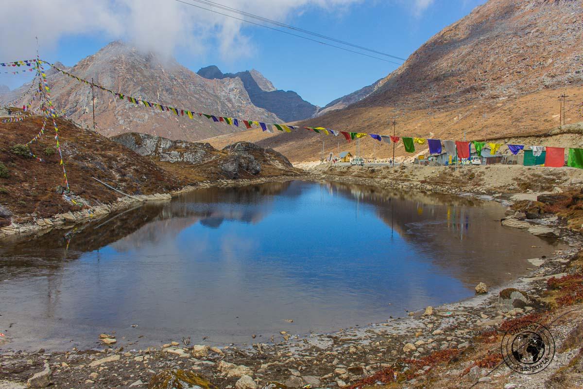 The lake at the Sela Pass on the way to Tawang - Guide to Sela Pass, Tawang Monastery and other Places to Visit in Tawang