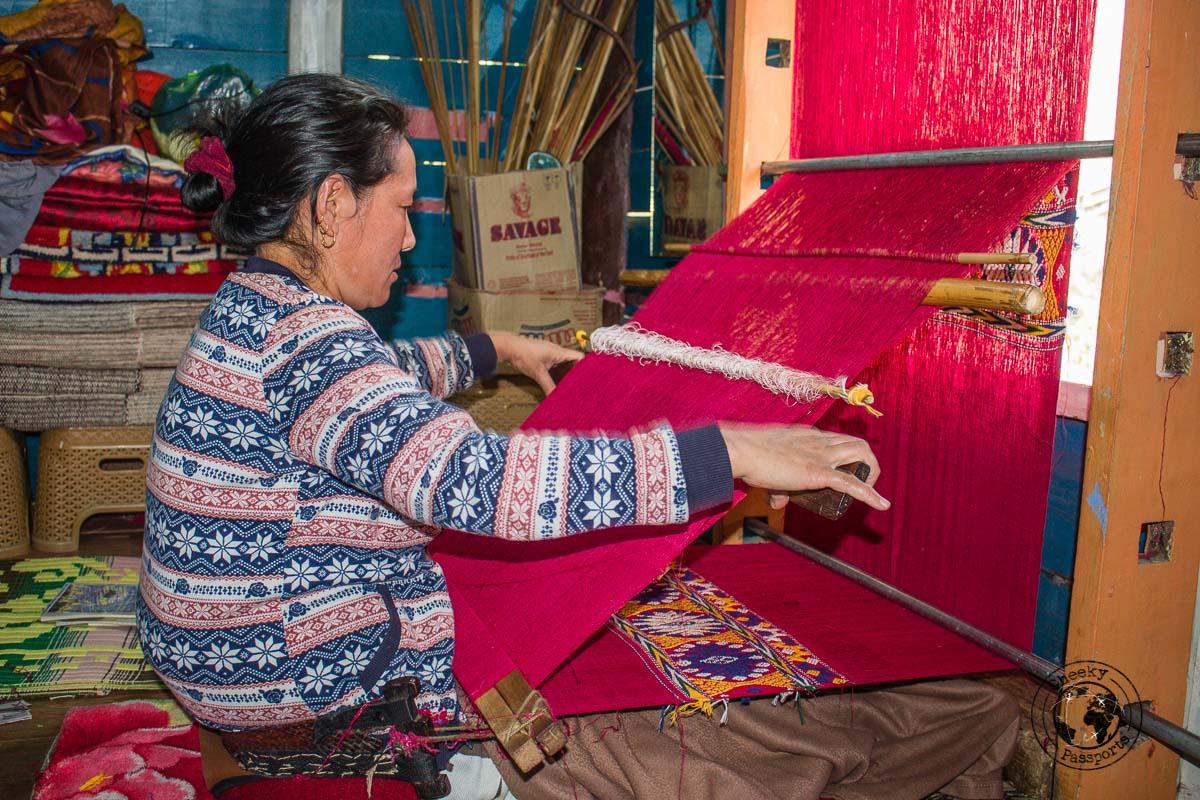 Weaving in Dirang - Explore Dirang and Bomdila in Arunachal Pradesh - Northeast India Travel