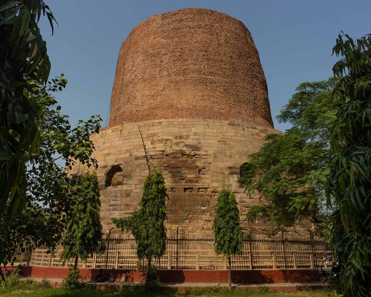 a very imposing Dhamek Stupa