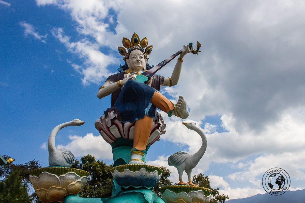 interesting statues at the bomdila monastery - Explore Dirang and Bomdila in Arunachal Pradesh - Northeast India Travel