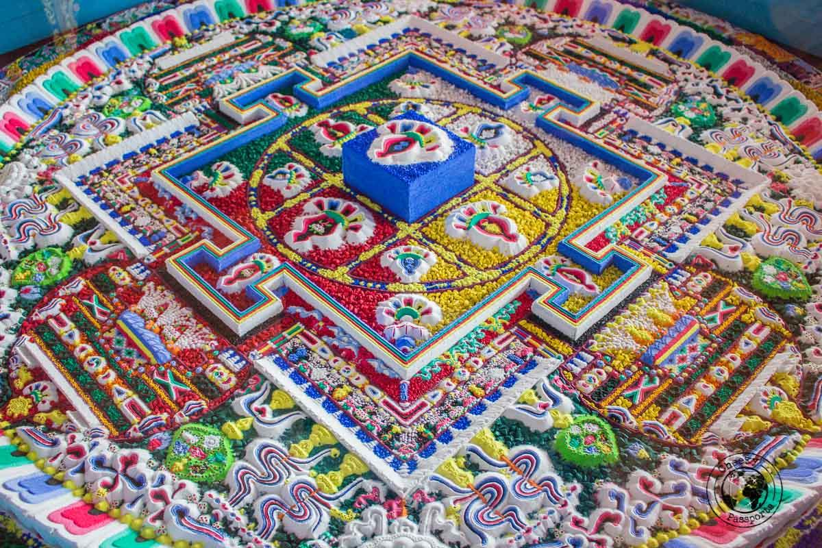 intricate design of the tanka at the bomdila monastery - Explore Dirang and Bomdila in Arunachal Pradesh - Northeast India Travel