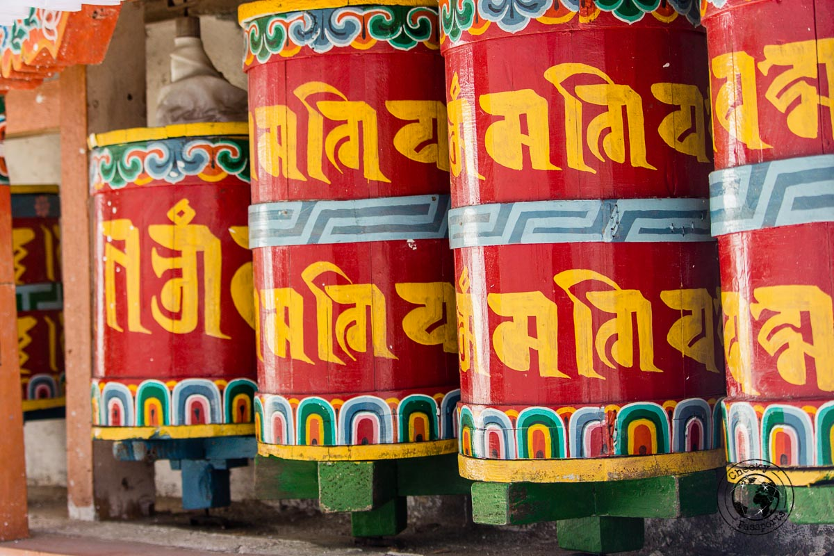 prayer wheels at Brama Dung Chung Ani Monastery - Guide to Sela Pass, Tawang Monastery and other Places to Visit in Tawang
