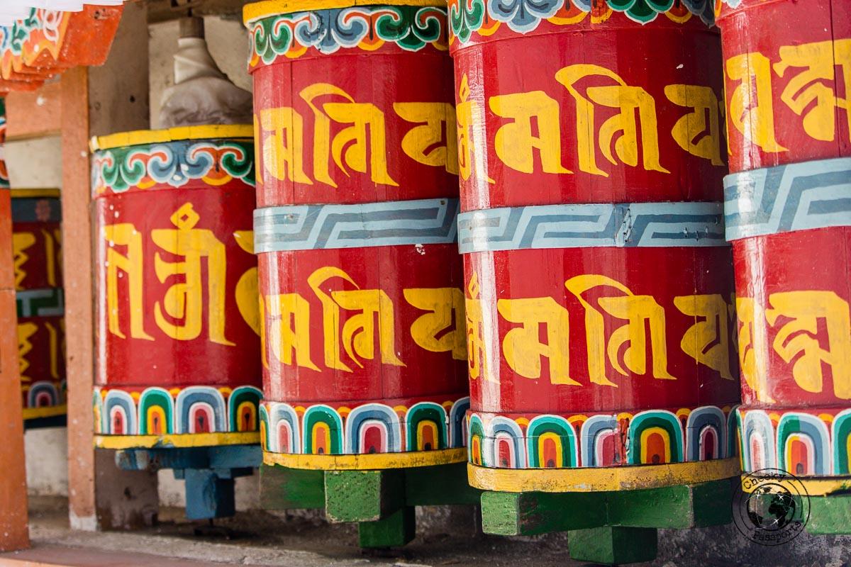 prayer wheels at Brama Dung Chung Ani Monastery - Guide to Sela Pass, Tawang Monastery and other Places to Visit in Tawang