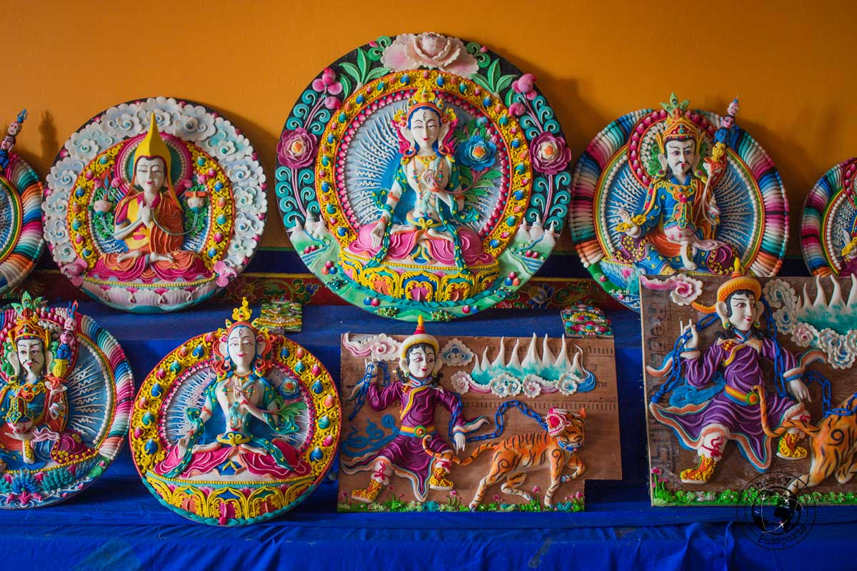 Decorations made from butter at the Bomdila monastery - Places to visit in Arunanchal Pradesh Itinerary