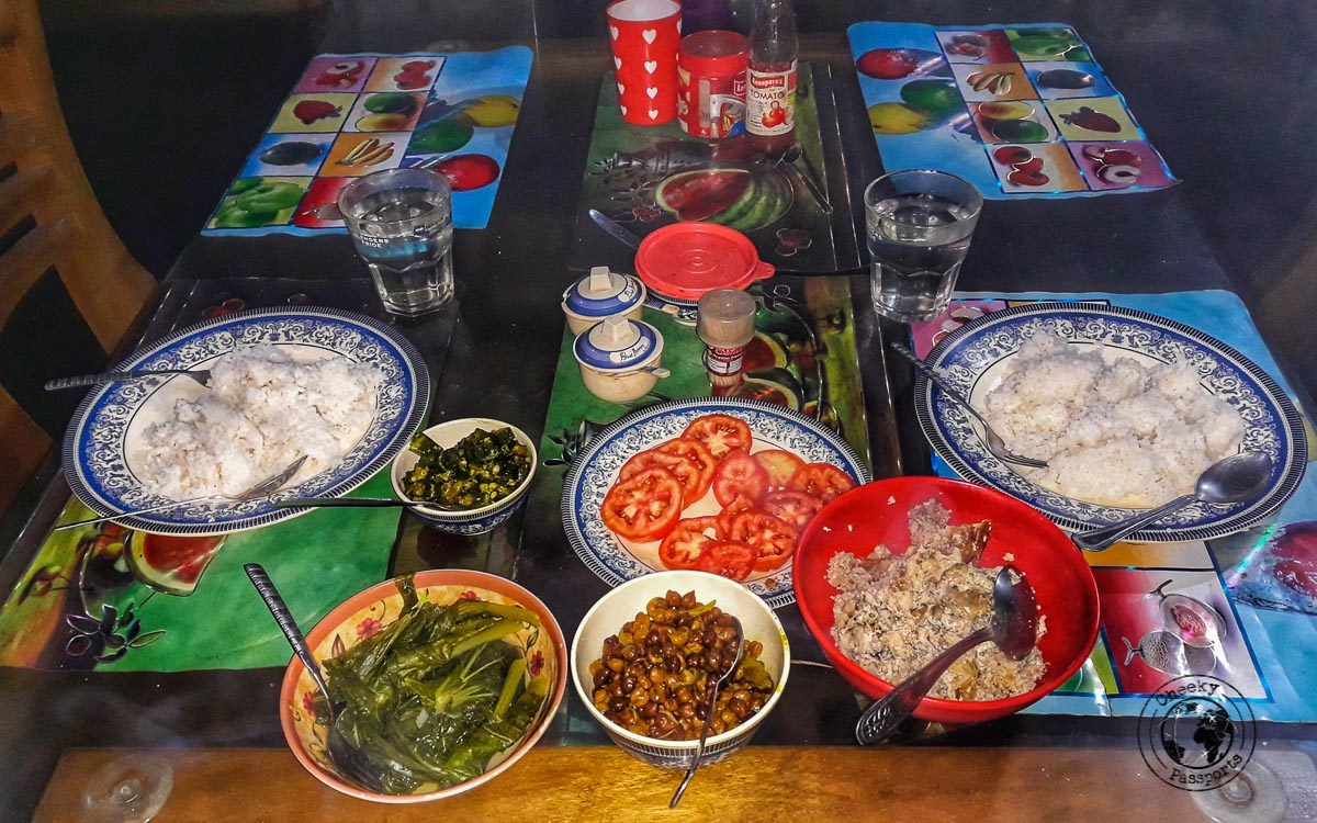 Delicious meals prepared at the homestay in Ziro Valley