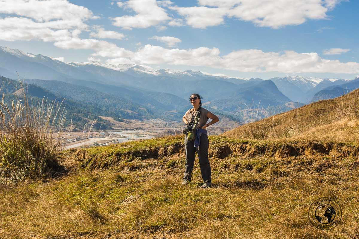 Enjoying the view of the valley at Mechuka, Arunachal Pradesh
