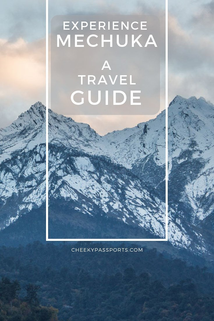 A #travel #guide to Mechuka, #Arunachal Pradesh, an alluring village surrounded by pine forests and snow-capped #mountains only made accessible in recent years. #mechukha #arunachaltourism #northeastindia #IncredibleIndia #mountainview #mountains #himalayas #ontheroad #travelcouple #aroundtheworld #wanderlust #backpacking #wandering #travelcommunity #cheekypassports