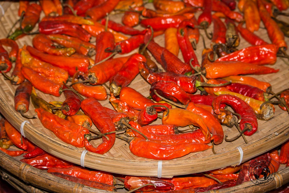 Fresh Chilli at the Bomdila Market - Places to visit in Arunanchal Pradesh Itinerary