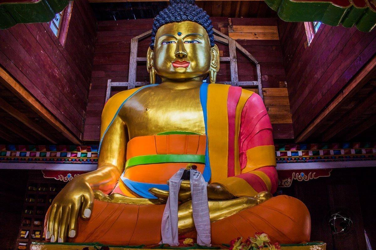 The large Buddha at the nearby town of Darjeeling - Mechuka, Arunachal Pradesh