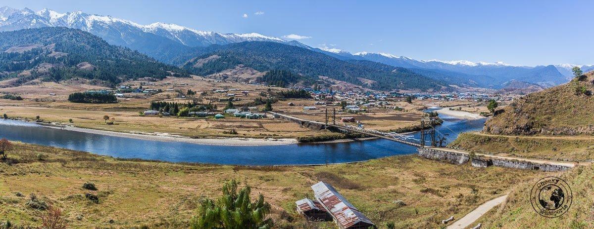 The valley at Mechuka, Arunachal Pradesh