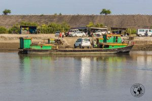 The ferry crossing over Brahmaputra