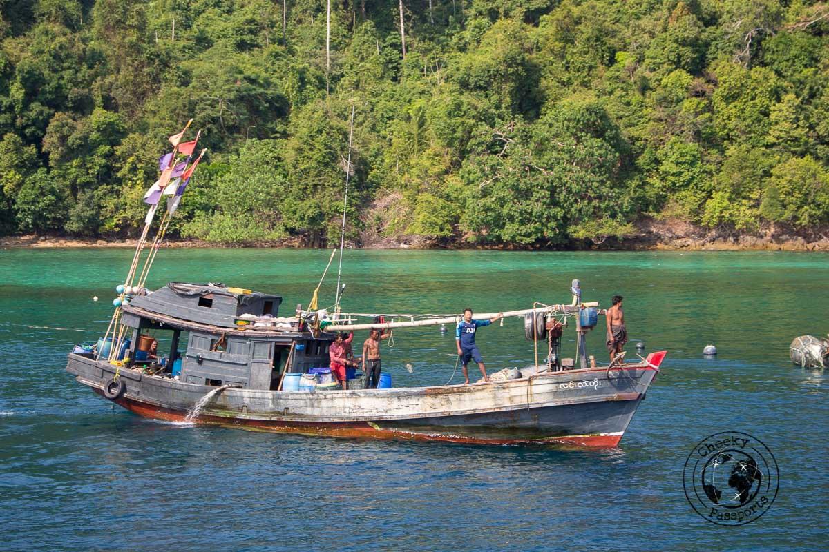 Fishing boats at the mergui archipelago myanmar