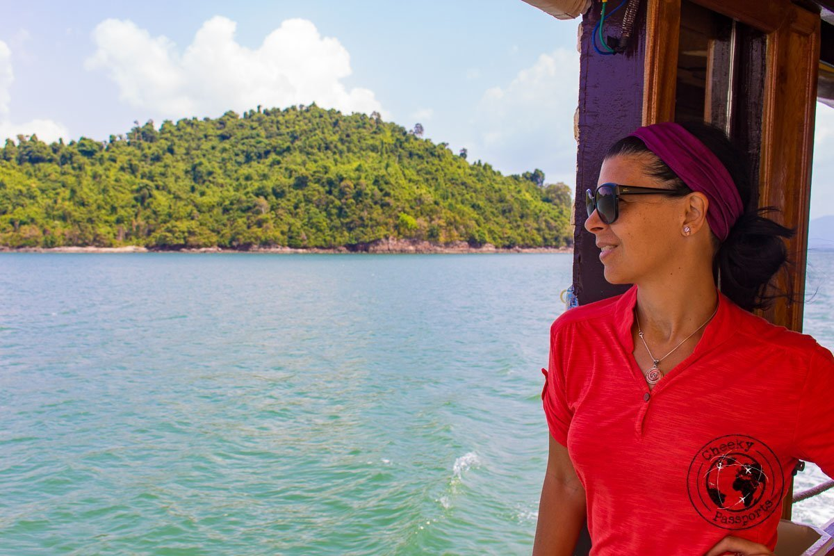 Michelle enjoying the view of the Mergui Archipelago