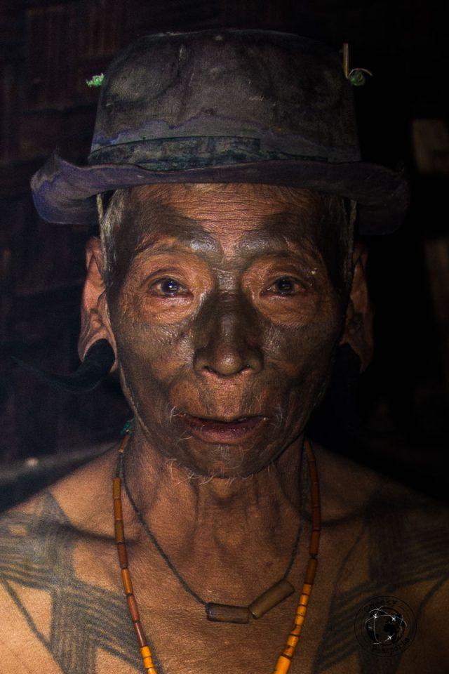 Portrait of the Konyak headhunter of Longwa