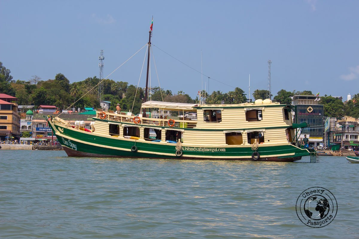 The Sea Gypsy berthed at Kawthoung - An array of seashells - Exploring the Spectacular Mergui Archipelago in Myanmar with Moby Dick Tours