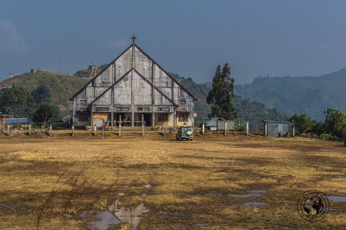 The church at Longwa - Exploring Longwa Village and meeting the Konyak tribe in Nagaland