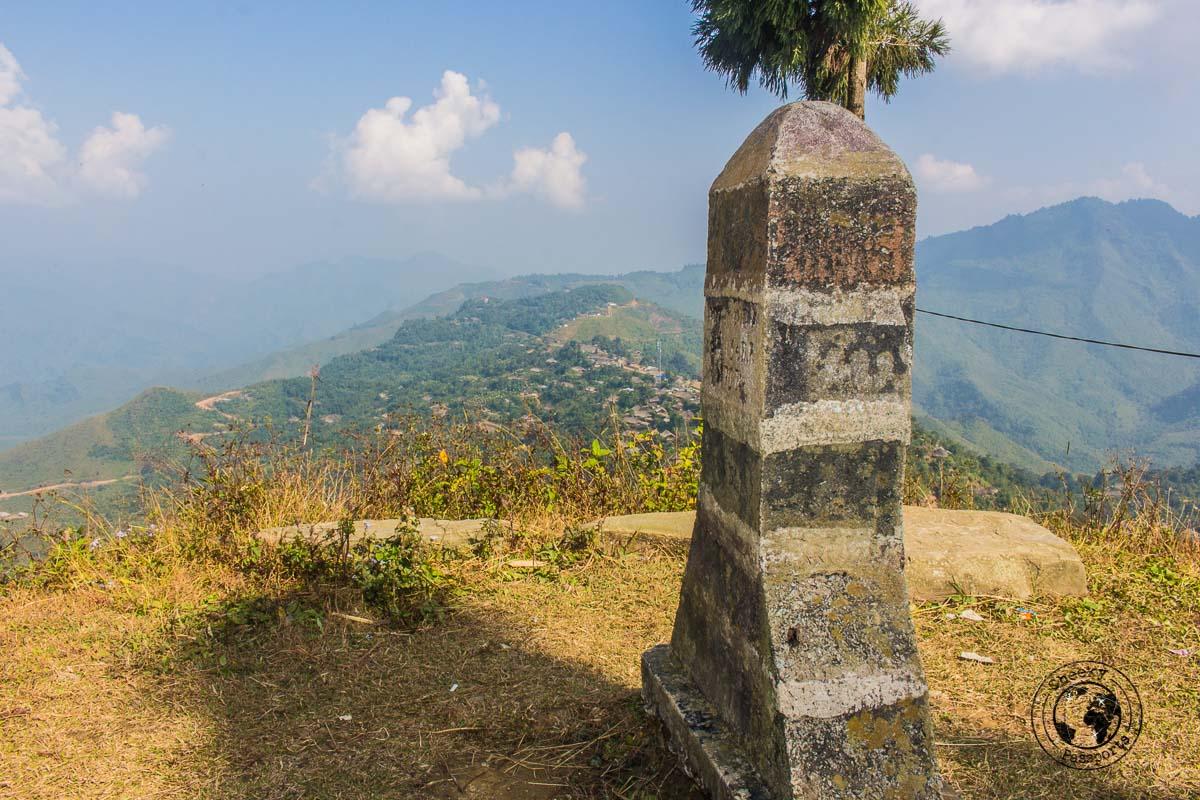 The viewpoint of both Nagaland, India and Myanmar - Exploring Longwa Village and meeting the Konyak tribe in Nagaland